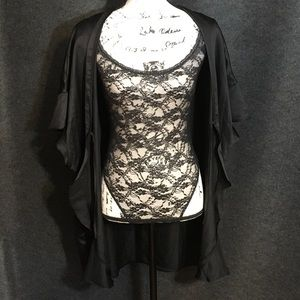 NWT Sparkling Black Sheer Body Suit